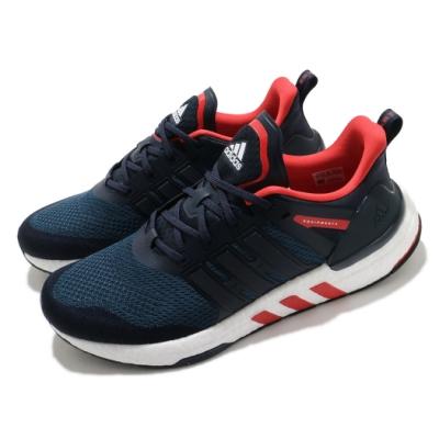 adidas 慢跑鞋 Equipment+ 運動休閒 男鞋 愛迪達 三線 Boost底 緩震 穿搭 藍 紅 H02755