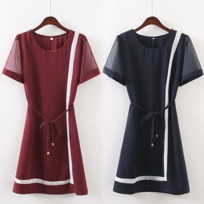 【韓國K.W.】(預購) 自在穿搭小香風洋裝