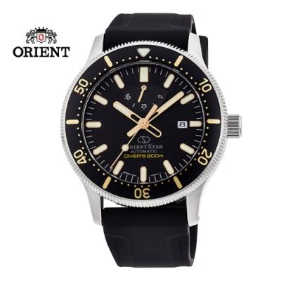 ORIENT STAR 東方之星 DIVERS 200M 系列 機械錶 膠帶款 黑色 RE-AU0303B  - 39.3mm