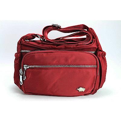 DRAKA 達卡 - 多層收納外出防潑水斜背側背包-小包-紅(44DK58270275)