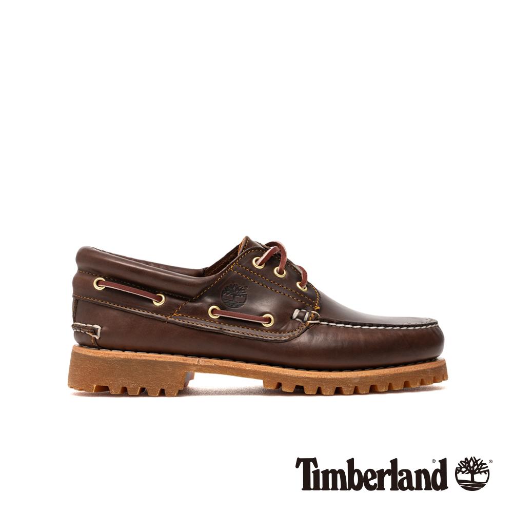 Timberland 男款深棕色手工縫製經典三孔帆船鞋 | 30003