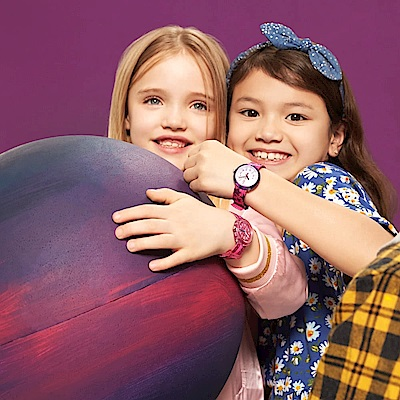 FlikFlak 兒童錶 PINK SPARKLE 亮麗粉紅-34.75mm