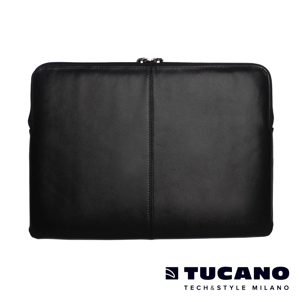 TUCANO Macbook 13吋義大利真皮極簡內袋Pregio-黑