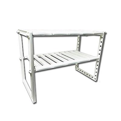 不鏽鋼可伸縮流理台水槽架 收納架 置物架-2入