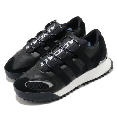 adidas 休閒鞋 AW Wangbody Run 男鞋 海外限定 愛迪達 聯名 Boost 皮革 黑白 EF2438