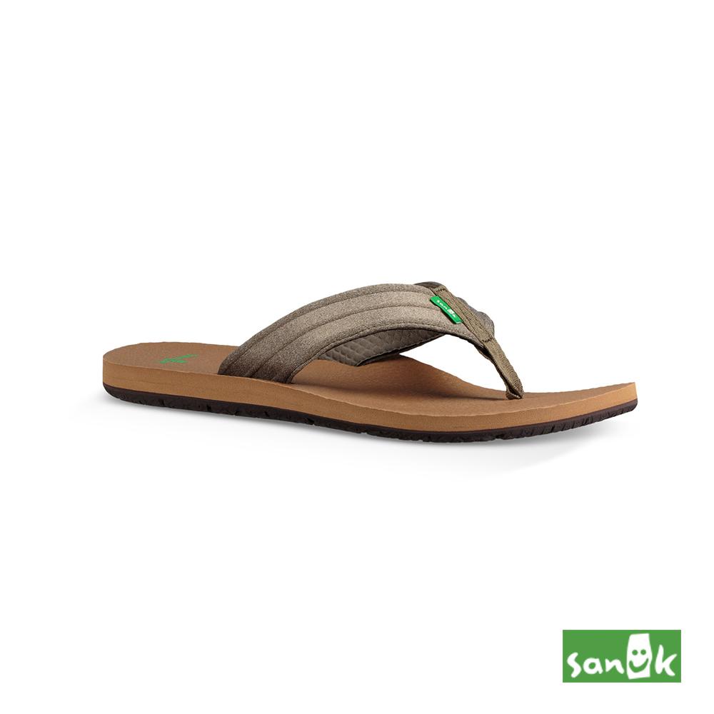 SANUK-LAND SHARK拖鞋-男款(奶茶色)