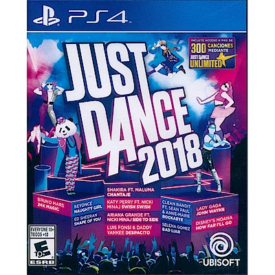 舞力全開 2018 Just Dance 2018 -PS4 英文美版