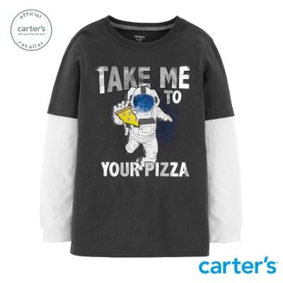 Carter s台灣總代理 披薩太空人長袖上衣