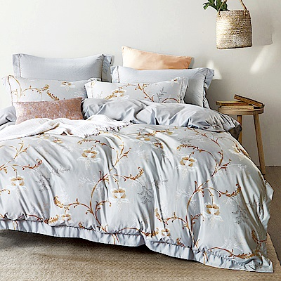 Ania Casa茶淡情濃 涼感天絲 採用3M吸溼排汗專利 加大鋪棉兩用被床包組