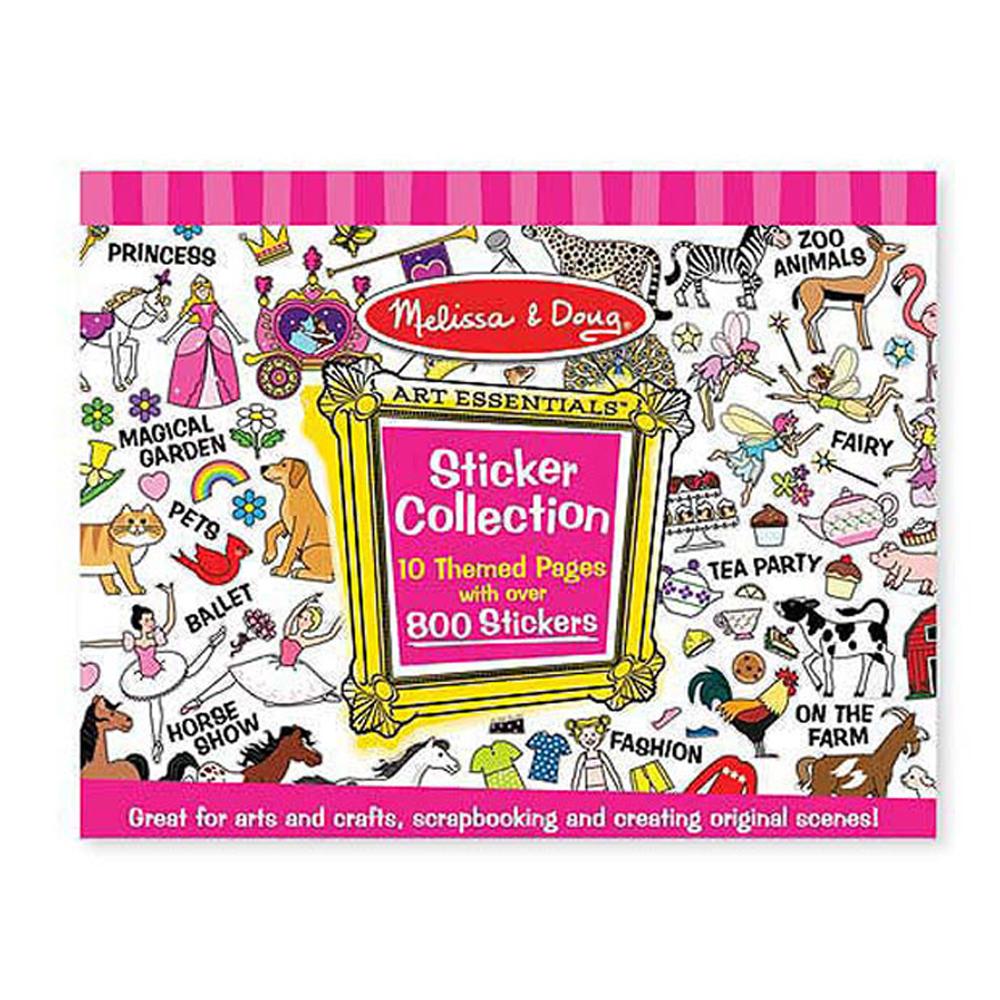 美國 Melissa & Doug 大型貼紙收藏簿-粉紅