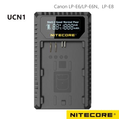 Nitecore UCN1 液晶顯示充電器 FOR CANON LP-E6+LP-E8