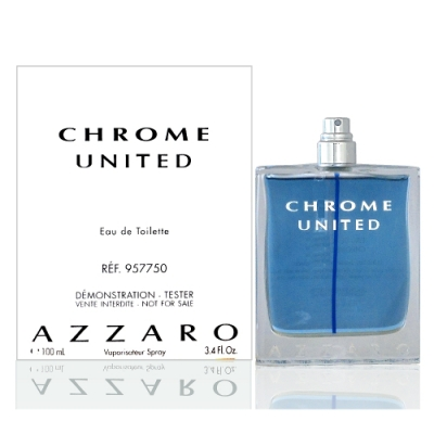 Azzaro Chrome United 酷藍唯我男性淡香水 100ml Tester 包裝