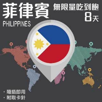 【PEKO】菲律賓上網卡 8日高速4G上網 無限量吃到飽 優良品質