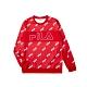 FILA 男吸濕排汗圓領T恤-紅色 1TEU-5481-RD product thumbnail 1
