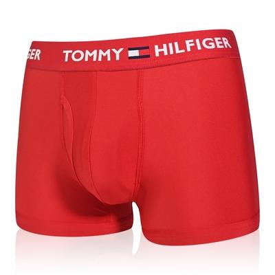 Tommy Hilfiger Everyday Microfiber 男內褲 莫代爾纖維絲質 合身平口褲/Tommy四角褲-紅色