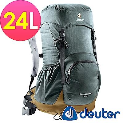 【ATUNAS 歐都納】德國DEUTER網架直立式透氣登山背包24L-3430116灰咖啡