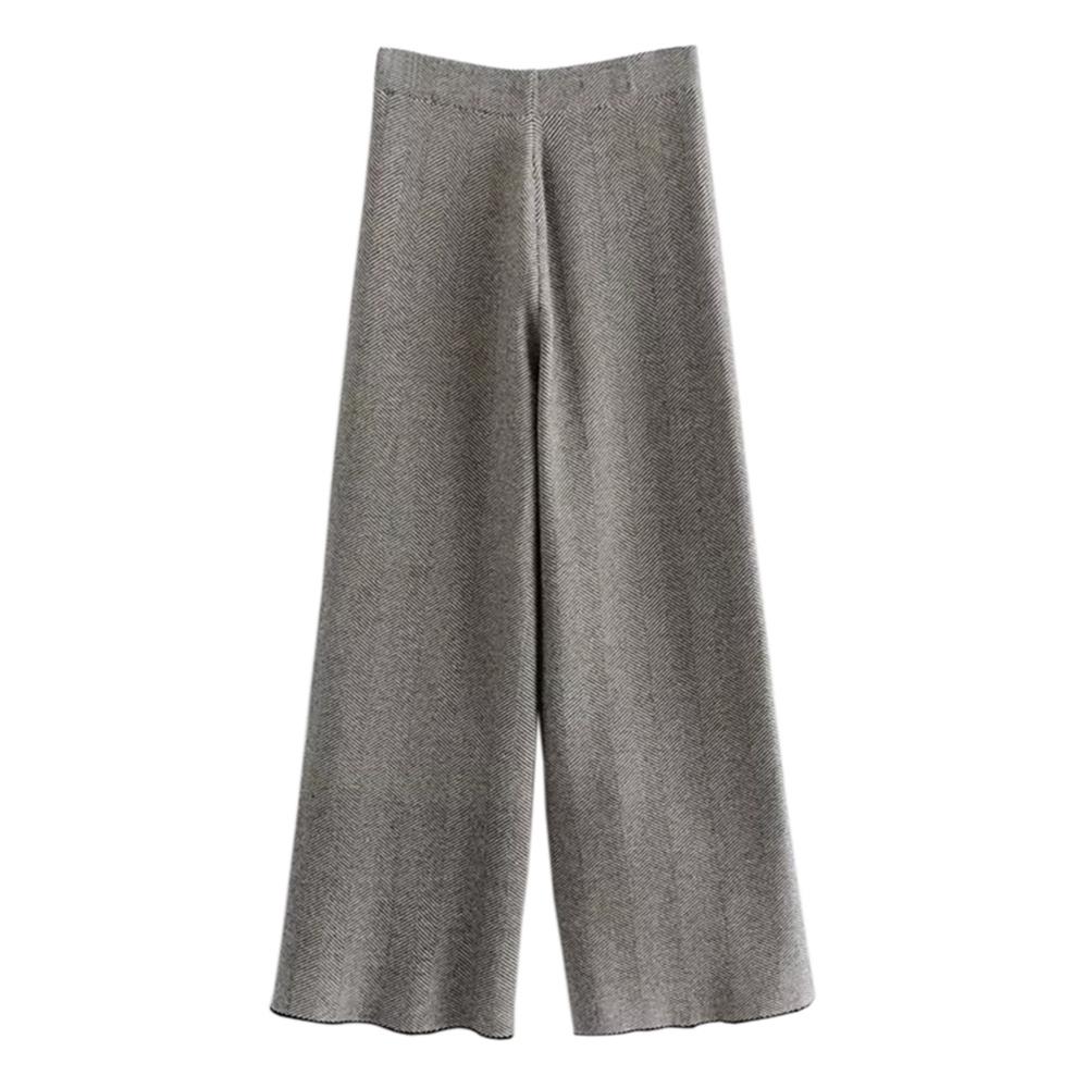 SQUA 斜紋針織寬褲