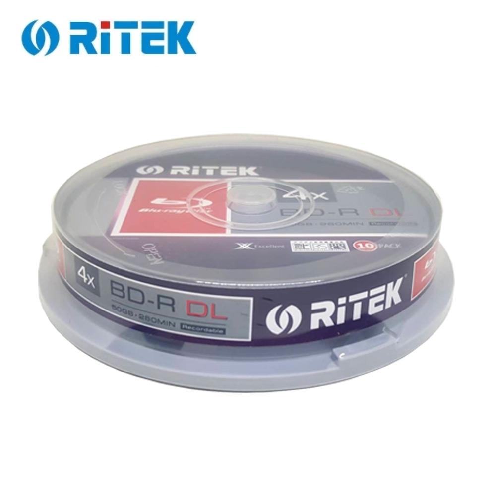 錸德 Ritek 藍光 X版 BD-R 4X DL 50GB 可燒錄光碟片(50片)