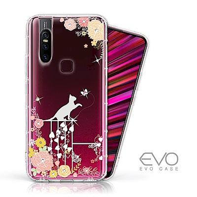 EVO CASE vivo V15 奧地利水鑽殼 - 貓咪戀曲