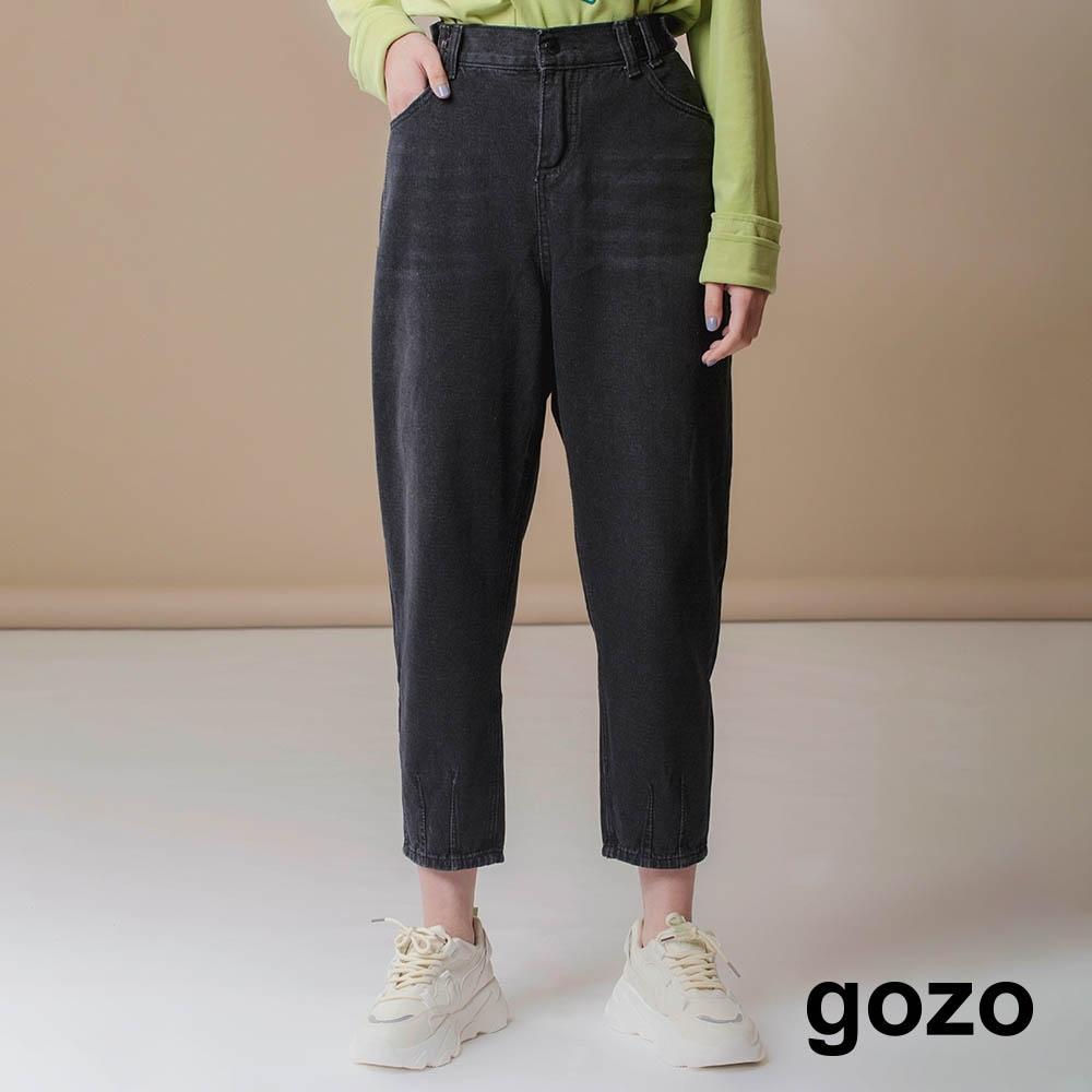 gozo-牛仔洗色寬鬆男友褲(兩色)