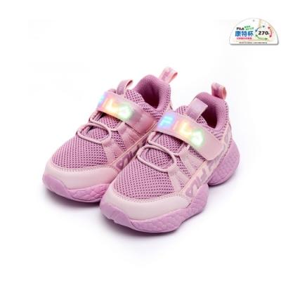 FILA KIDS 中童MD電燈運動鞋-粉紫 2-J425U-252