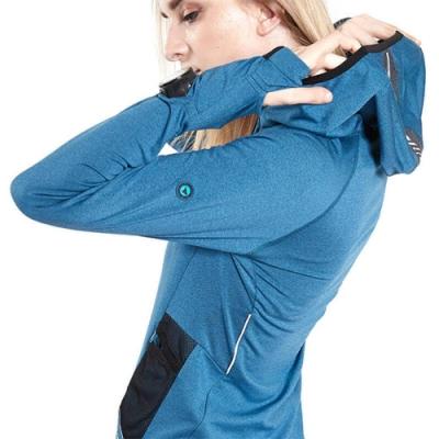 SUPERACE 內刷毛保暖層跑步外套2.0版 / 女款 / 藍色
