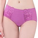 思薇爾 花蔓系列M-XL蕾絲低腰平口內褲(亮麗桃)