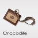 Crocodile Natural系列義大利植物鞣皮革 橫式識別證 0103-58092 product thumbnail 1