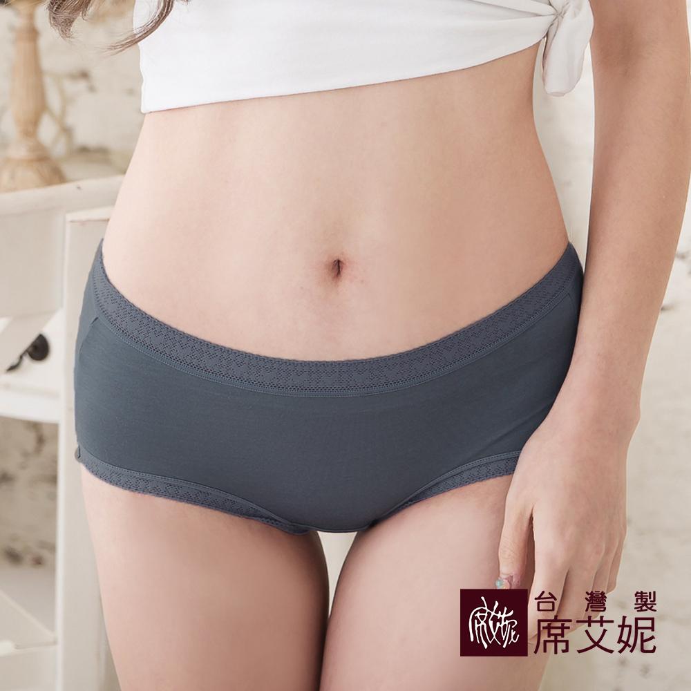 席艾妮SHIANEY 台灣製造(5件組)中大尺碼 莫代爾中腰蕾絲內褲