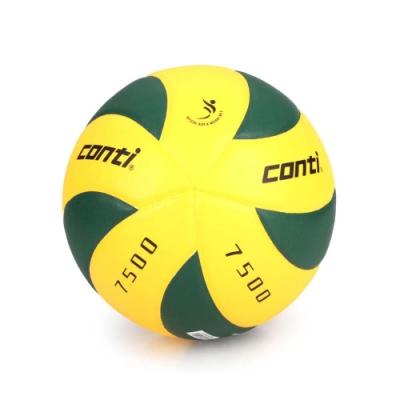 conti 5號日本頂級超級細纖纖維貼布排球 CONTI 黃綠