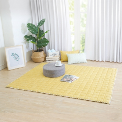 IN HOUSE-馬卡龍多功能地墊-黃色(140x180cm)