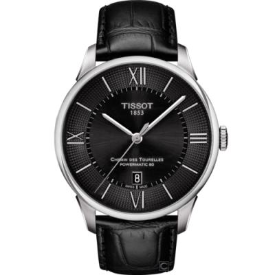 TISSOT 杜魯爾 80小時動力儲存機械錶(T0994071605800)42mm