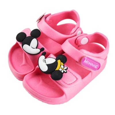 迪士尼童鞋 米妮 立體造型防水涼鞋-粉(柏睿鞋業)