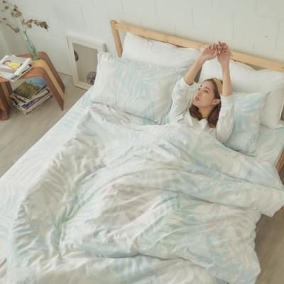 BUHO 舒涼TENCEL天絲單人床包+雙人被套三件組(無聲靜語)