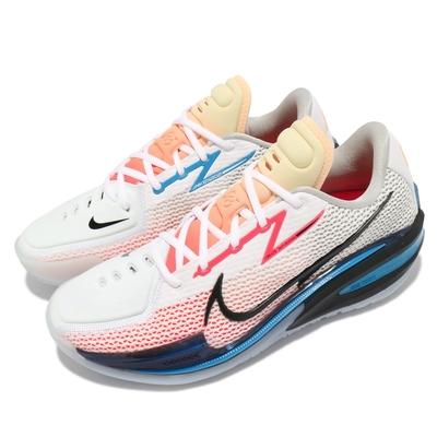 Nike 籃球鞋 Zoom G T Cut EP 運動 男鞋 氣墊 舒適 避震 包覆 支撐 球鞋 白 藍 CZ0176101