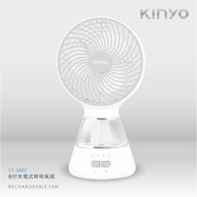 KINYO 8吋 USB充插電式電風扇