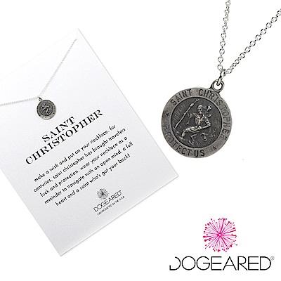 Dogeared 旅行錢幣 銀色許願項鍊 帶著好運向前行 附原廠盒