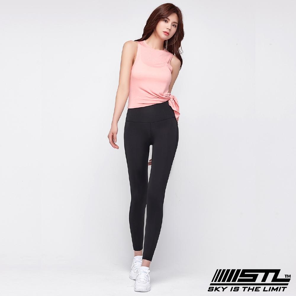 STL yoga Light Quickdry legging 韓國『超高腰』運動機能 壓力訓練緊身褲 9分 經典黑 瑜珈/重訓/戶外/機能/登山/路跑
