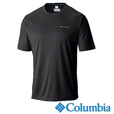 Columbia哥倫比亞 男-防曬30涼感快排短袖上衣黑色 UAM64640BK
