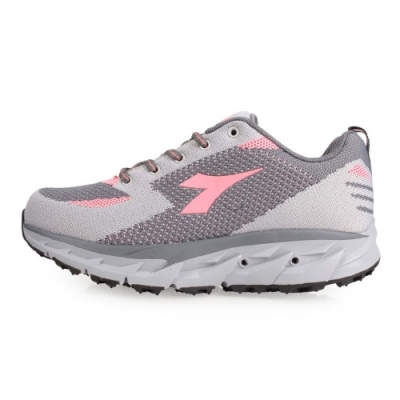 DIADORA 女戶外越野鞋-慢跑 路跑 灰粉