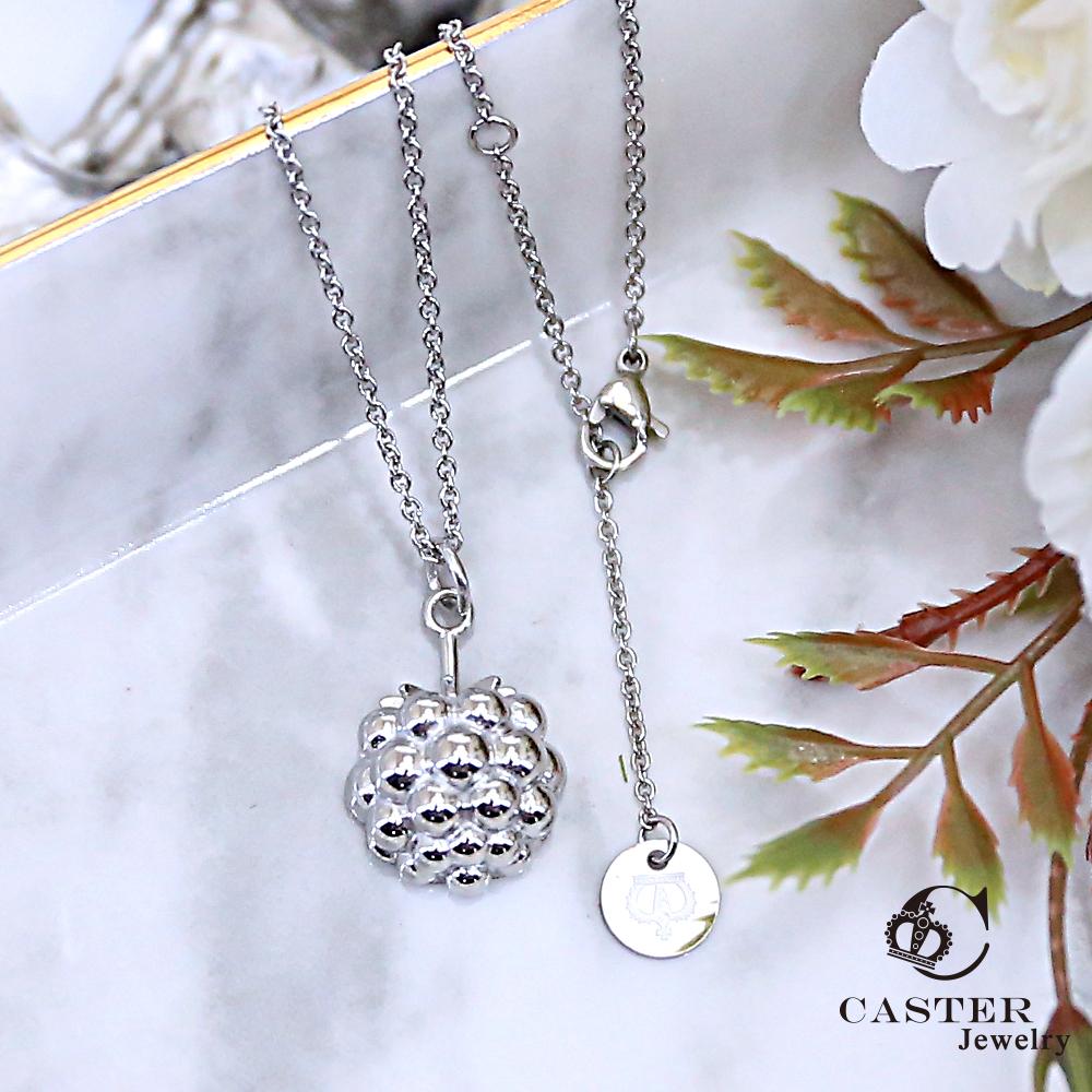 日本 凱斯特 CASTER 甜美果實 時尚銀項鍊防抗過敏 SUS316L頂級不鏽鋼飾品