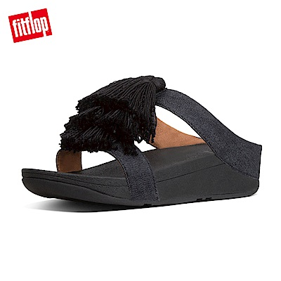 FitFlop FINO厚底涼鞋黑色
