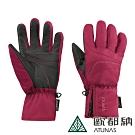 【ATUNAS 歐都納】GORE-TEX防水防風透氣保暖觸控手套A-A1739暗紅