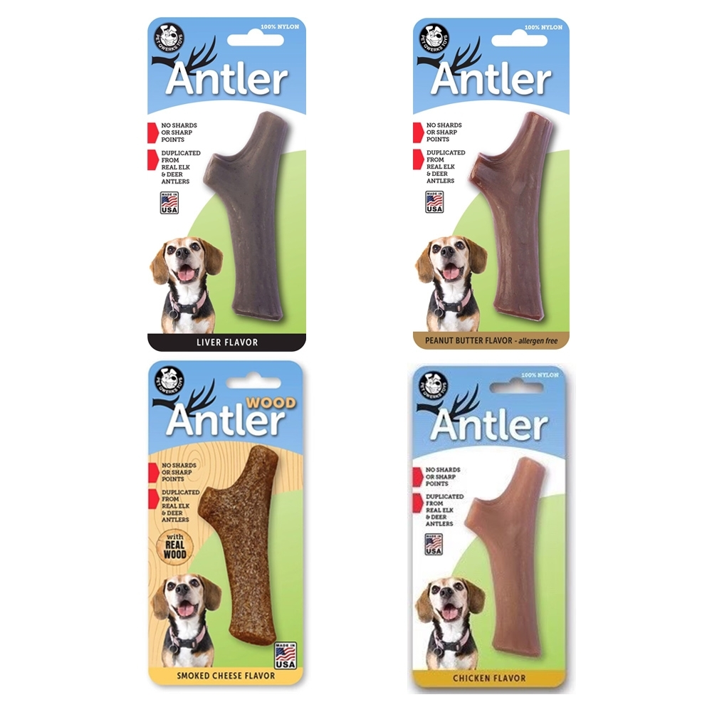 PET QWERKS TOYS庫克狗玩具Antler-M號-2入組