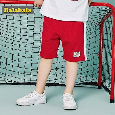 Balabala巴拉巴拉-造型小貼標運動短褲-男(1色)