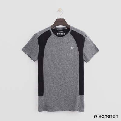 Hang Ten - ThermoContro-撞色拼接造型短T - 灰