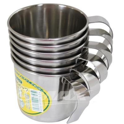 omax可疊式高級不銹鋼杯 6入+保溫保冷袋1入(隨機出貨)-快
