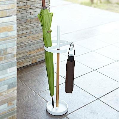 【YAMAZAKI】都會雅痞木紋多功能雨傘架-白★雨傘筒/雨傘桶