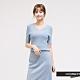 H:CONNECT 韓國品牌 女裝 - 合身羅紋上衣 - 藍 product thumbnail 1