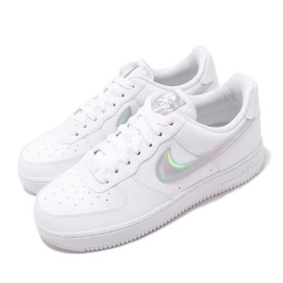 Nike 休閒鞋 Air Force 1 07 運動 女鞋 經典款 AF1 皮革 簡約 球鞋 穿搭 白 銀 CJ1646100